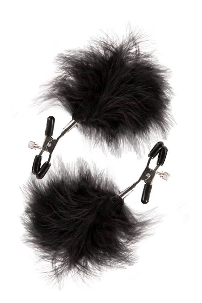 GP Feathered Nipple Clamps - Color Black thumbnail