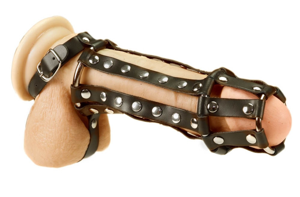 Penis harness with spikes - Size M/L
