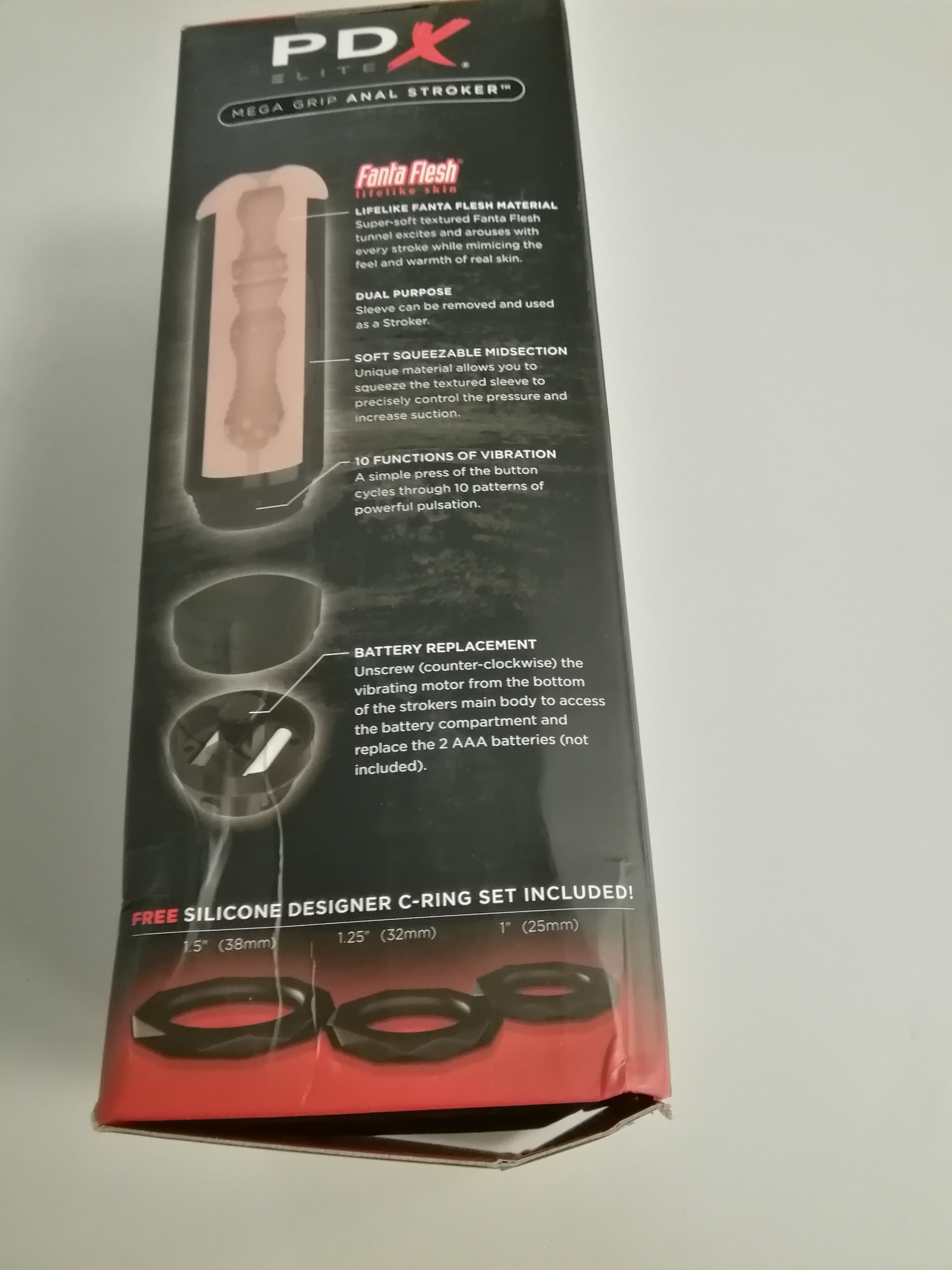 PDX Elite Mega Grip Anal Stroker (slightly damaged packaging) (enyhén törött doboz) thumbnail