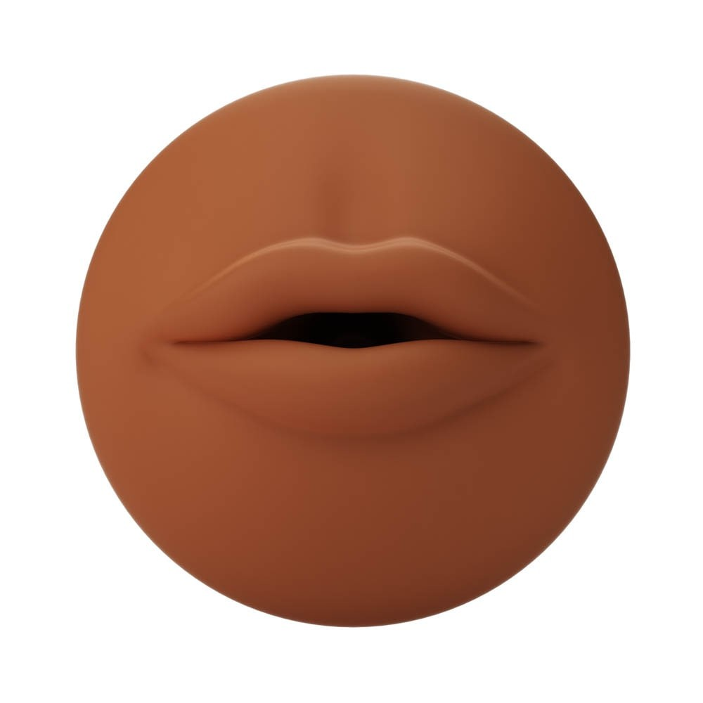 Autoblow A.I. Silicone Mouth Sleeve - Brown - Diameter (cm)
