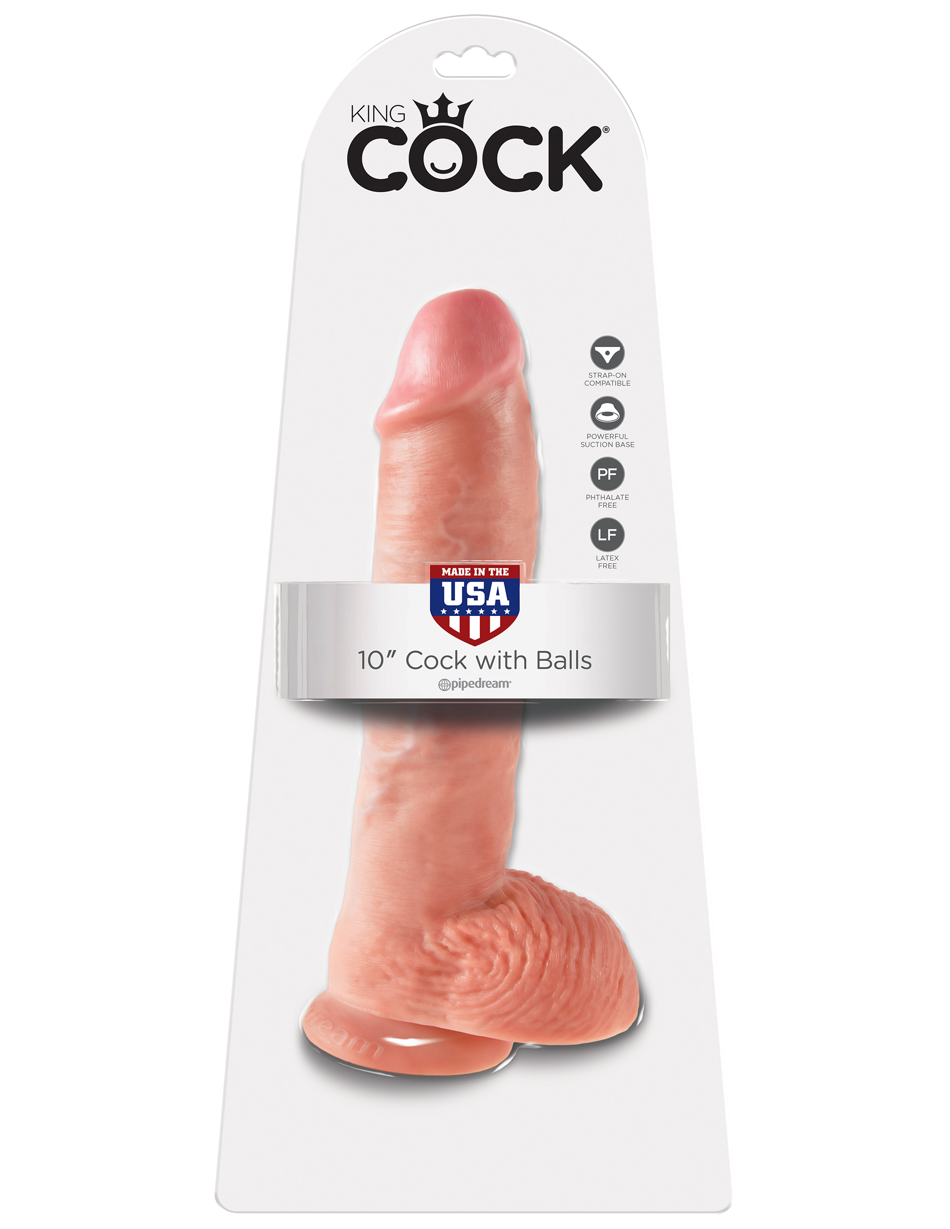 King Cock 10'' Cock with Balls