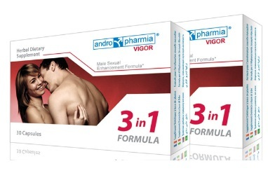 Pastile pentru potenta Vigor Male Sexual Enhancement Formula 3 in 1, Andropharmia