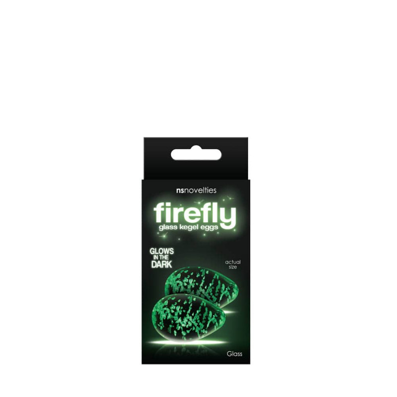 NS Novelties Firefly Glass Kegel Eggs Clear