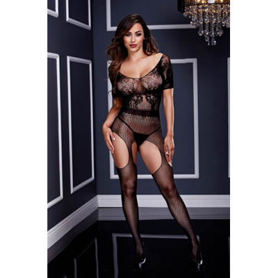 Baci SHORT SLEEVE CROTCHLESS BODYSTOCKING O/S
